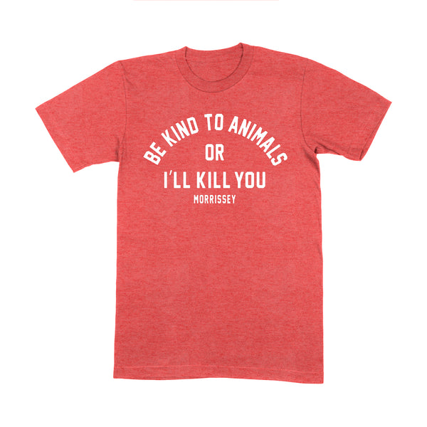 BE KIND HEATHER RED T SHIRT