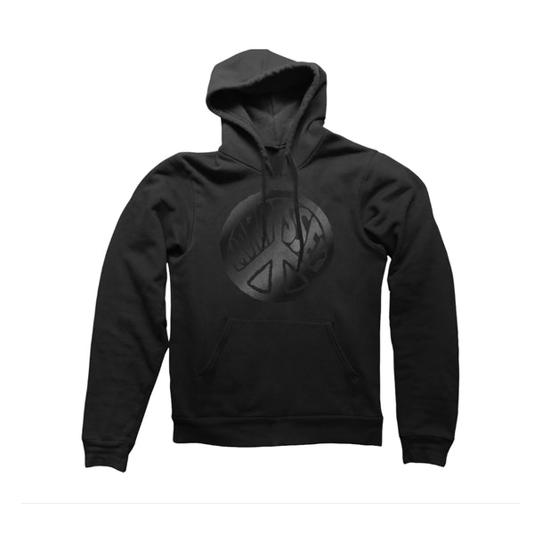 PEACE SIGN BLACK HOODY
