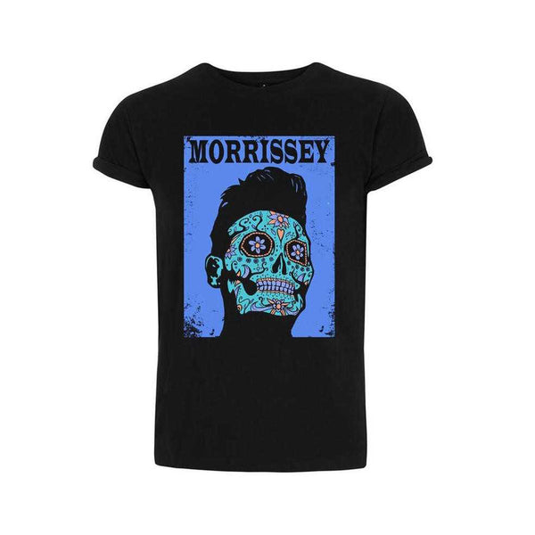 DAY OF THE DEAD BLACK ROLLED SLEEVE T-SHIRT