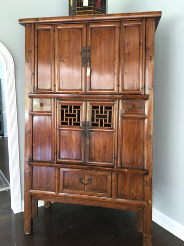 Antique Chinese kitchen cupboard c.1840