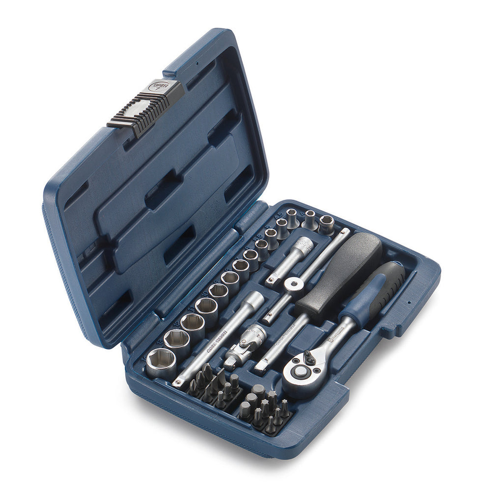 00029098500 Husaqvarna thirty eight piece toolbox in blue
