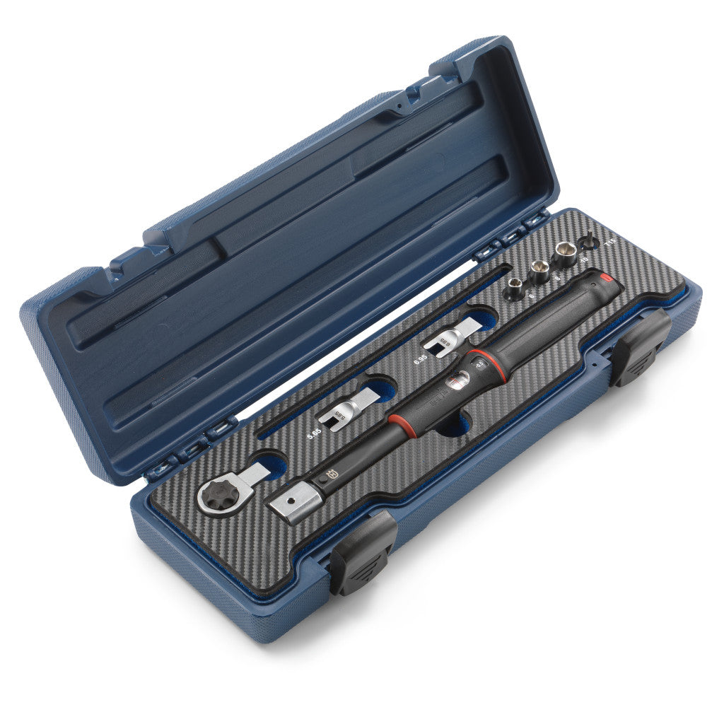 00029996500 Husqvarna Torque Wrench Box. Blue box and matte black tool