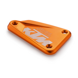 KTM Brake Reservoir Cover in billet aluminum orange for 790 Duke 2019-21