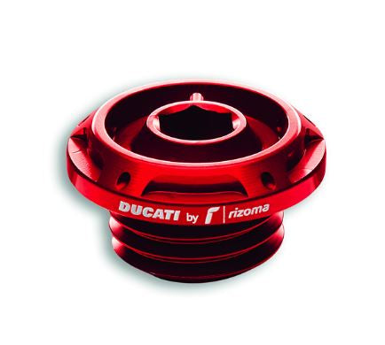 Ducati Performance Billet Aluminum Oil Filler Plug, Black or Red, V2, V4