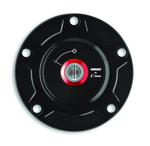 Ducati by Rizoma Billet Aluminum Gas Cap, Black for Panigale 899/959/1199/1299