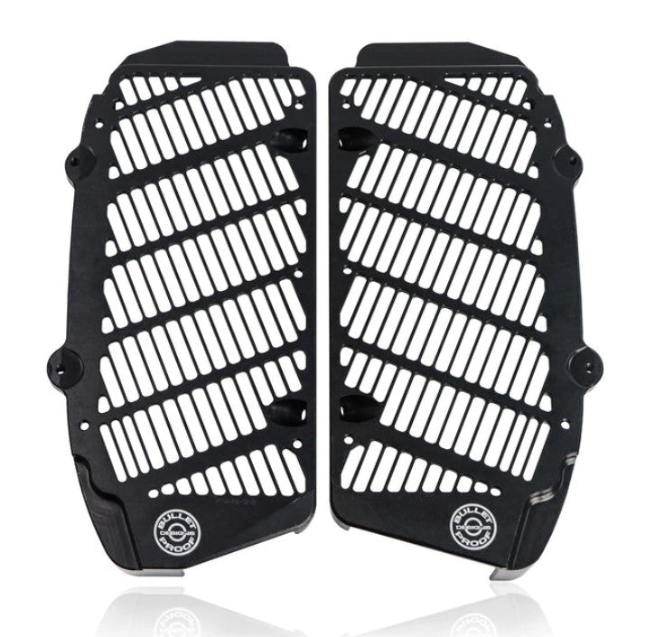 Bullet Proof Designs Radiator Guards in black for Husqvarna Motorcycles 2017-2021