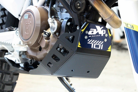AXP skid plate in black color for Husqvarna 701 Enduro and Supermoto.
