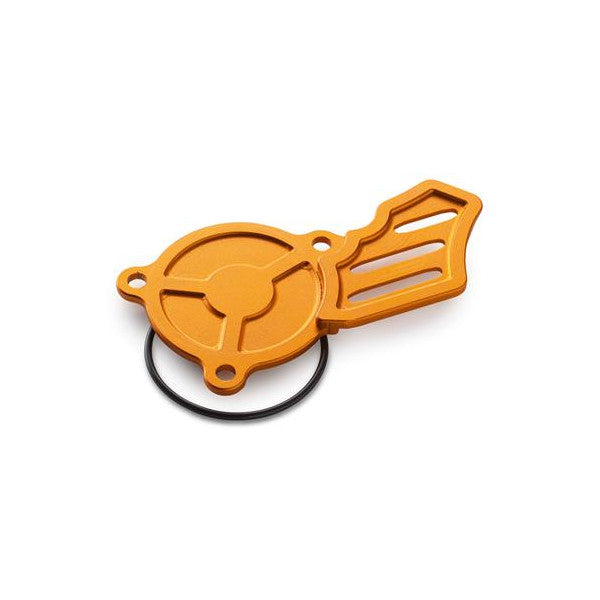 79238904044 oil pump cover in orange billet aluminum for KTM 250/350/450/500 EXC