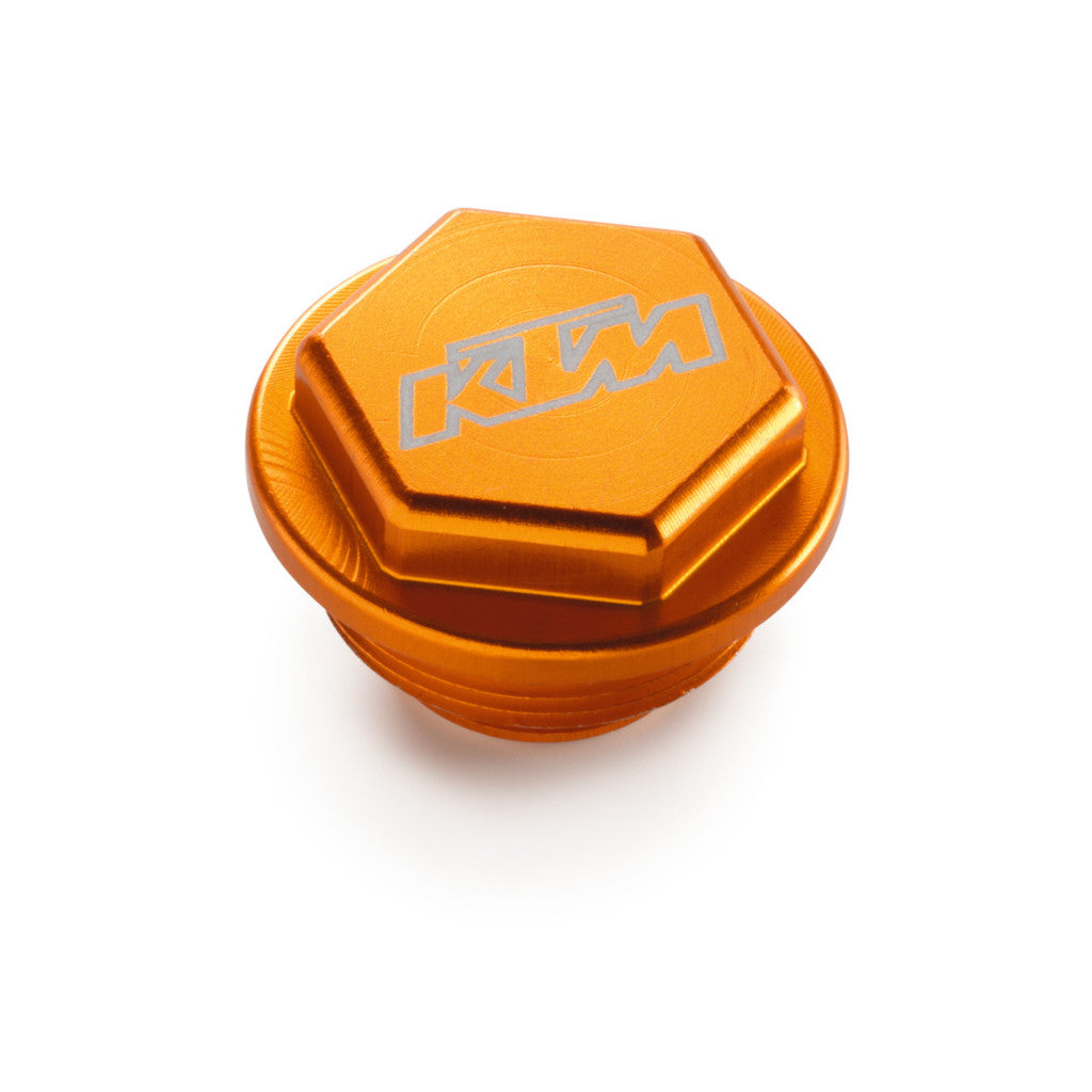 U6951981 KTM rear brake reservoir cover in billet aluminum orange for 250/350/450/500 exc