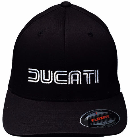 GP and Ducati 1980s Style Logo Hat Black