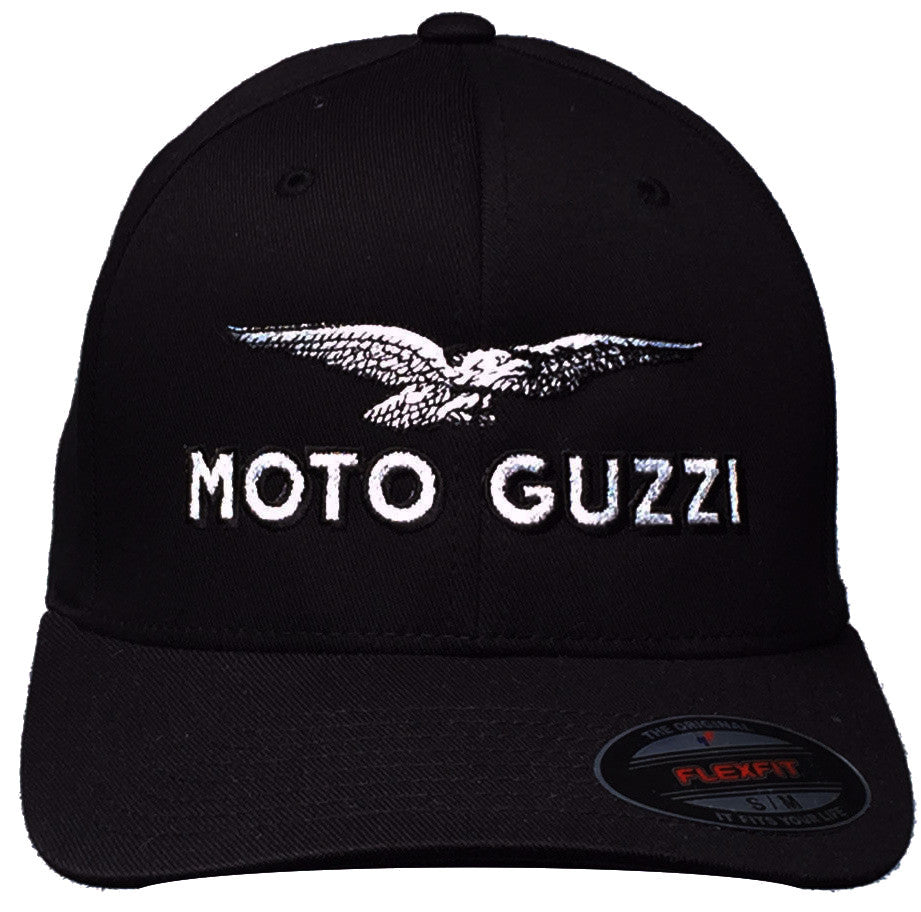 GP and Moto Guzzi Logo Hat Black