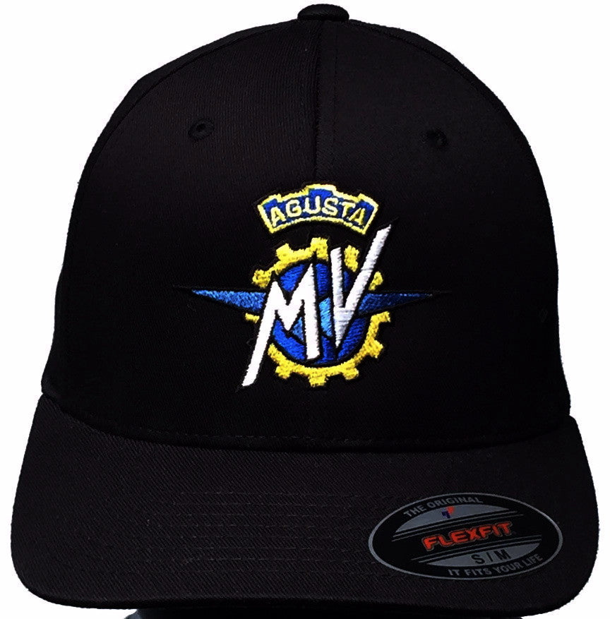 GP and MV Agusta Logo Hat Black