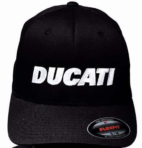 GP and Ducati Text Logo Hat Black