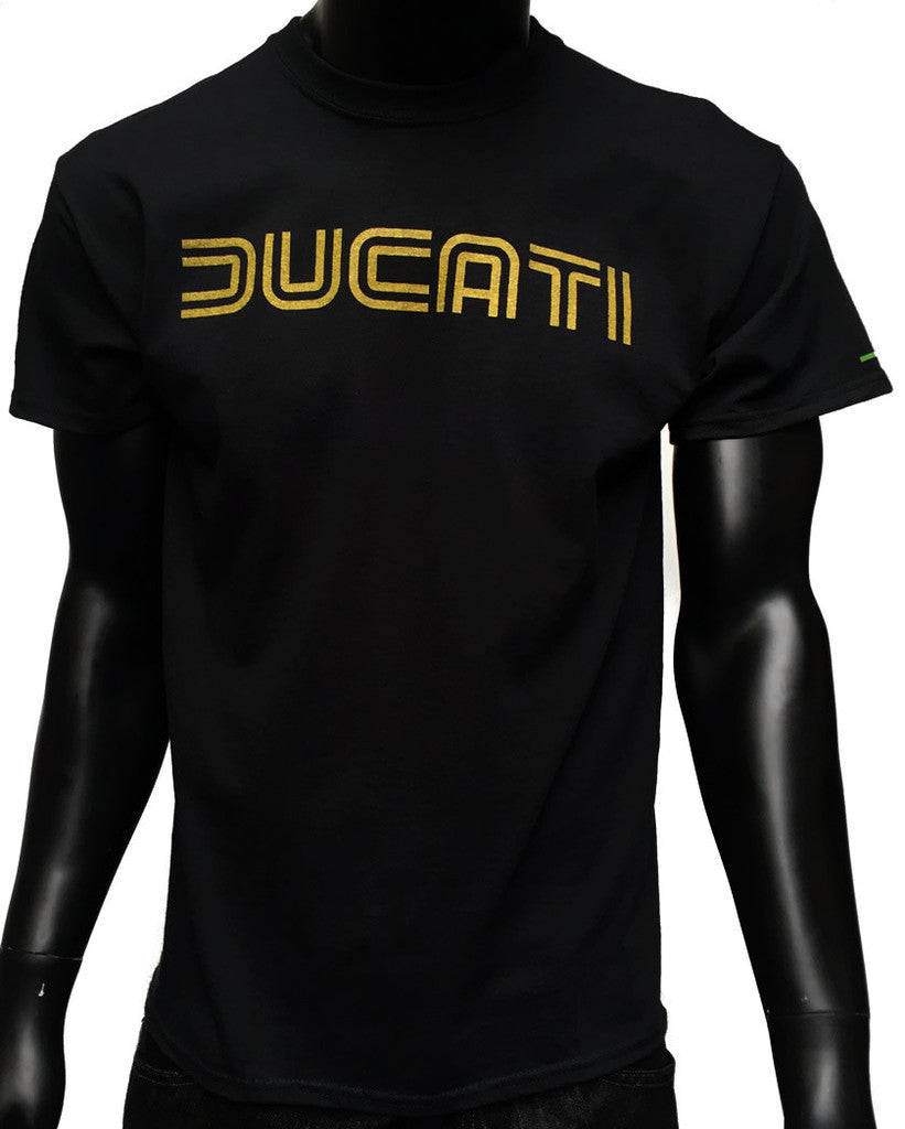 GP and Ducati 1980s Style Logo Men's T-Shirt Black