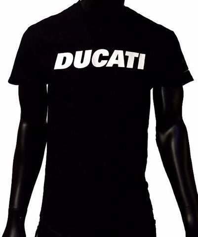 GP and Ducati Text Logo Men's T-Shirt Black