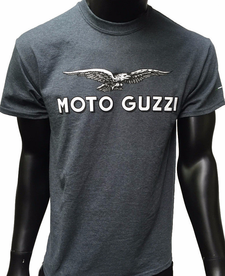 GP and Moto Guzzi Logo Men's T-Shirt Gray