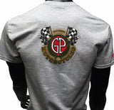 GP and Ducati Moto Logo Men's T-Shirt Gray