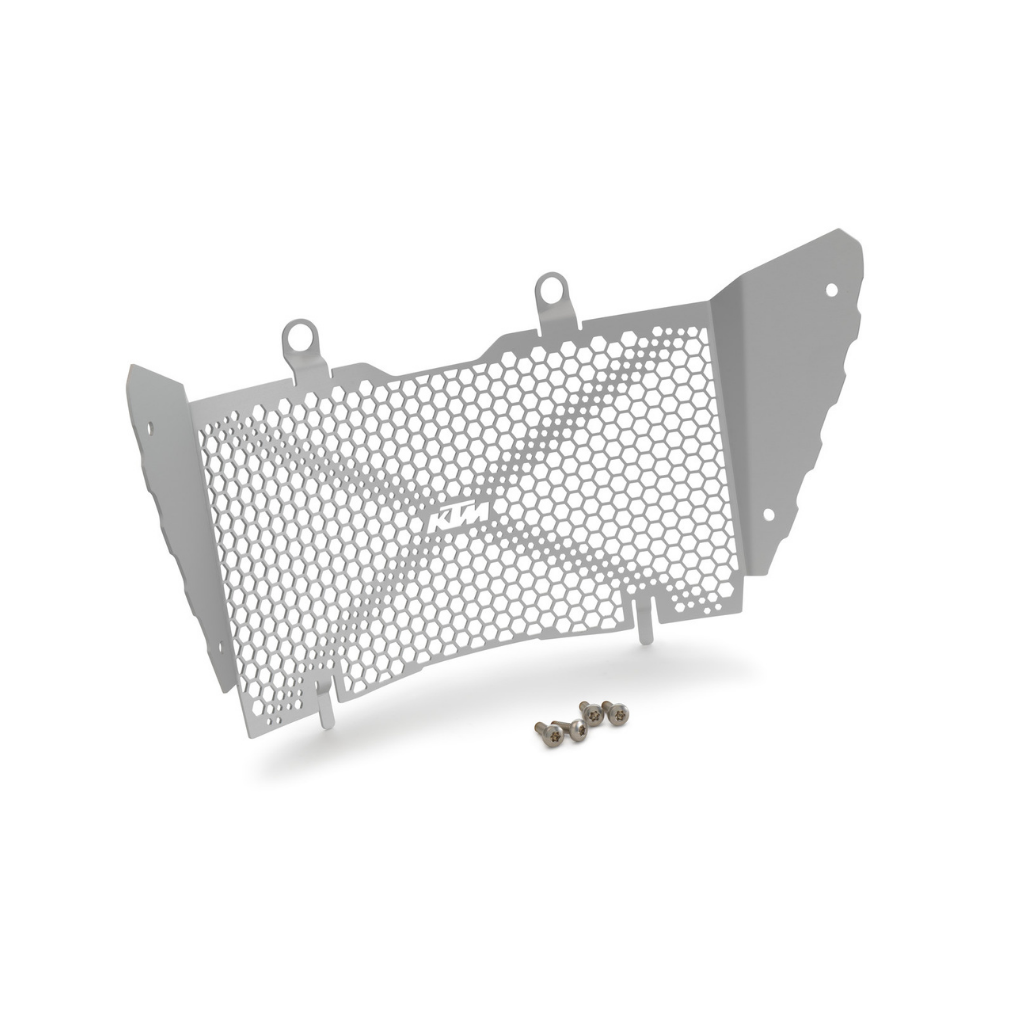KTM radiator protection screen, aluminum silver for 390 Adventure