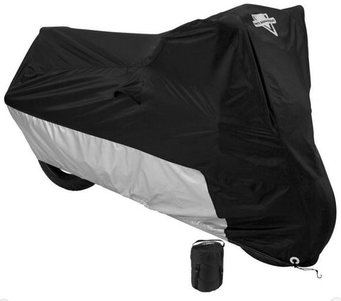 Nelson-Rigg Deluxe All-Season Cover, Large, Black W/Silver Ducati