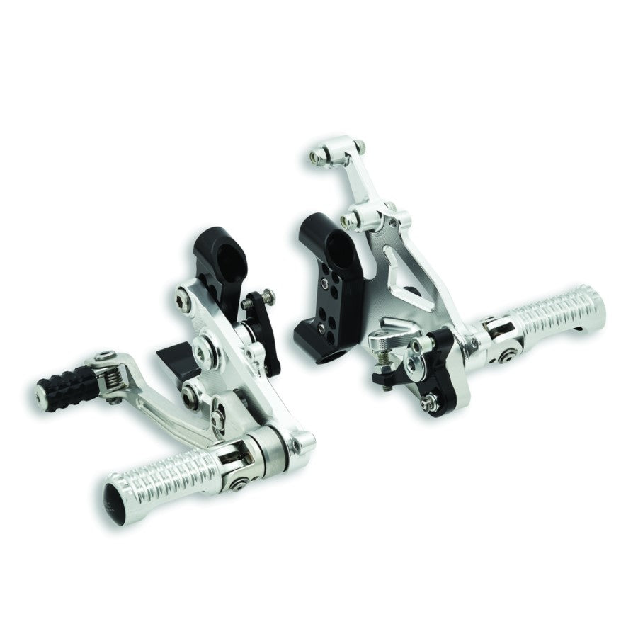 Ducati by Rizoma Adjustable Rearsets in Silver for Panigale V2