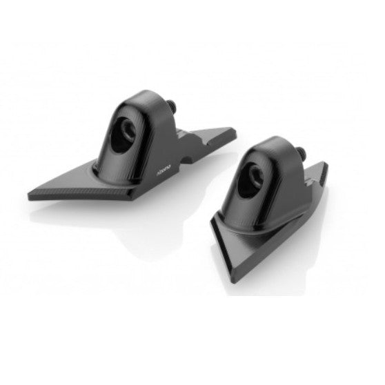 Rizoma Mirror Adapter Set in Black for Panigale V2