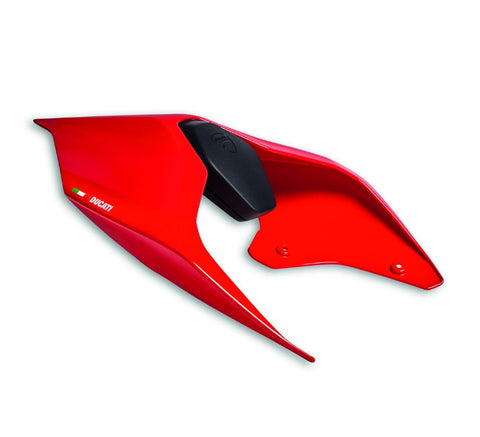 Ducati passenger seat cover in red for Panigale V2