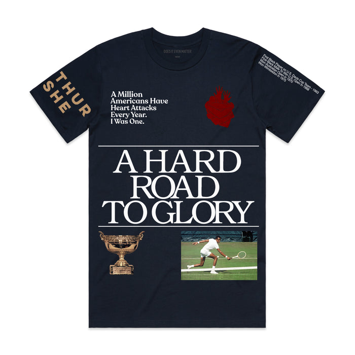 A Hard Road To Glory T-Shirt - Navy