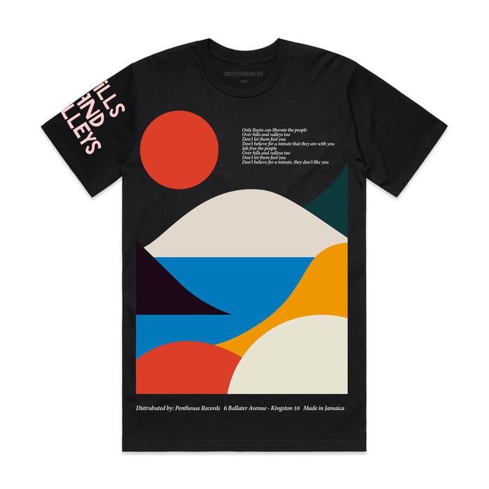 Hills And Valleys S/S T-Shirt Black