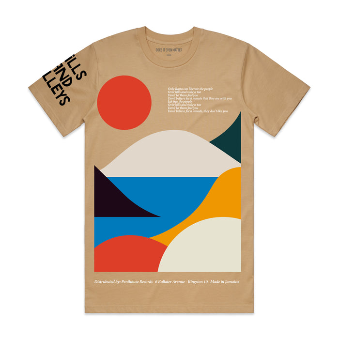 Hills And Valleys S/S T-Shirt Tan