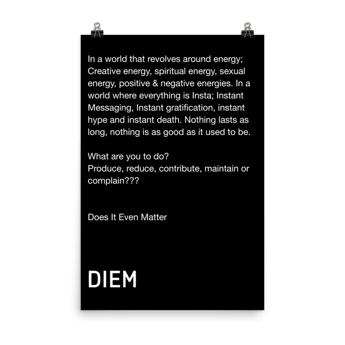 DIEM Our Mantra Poster