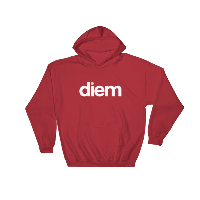 DIEM Lo Hooded Sweatshirt - Red