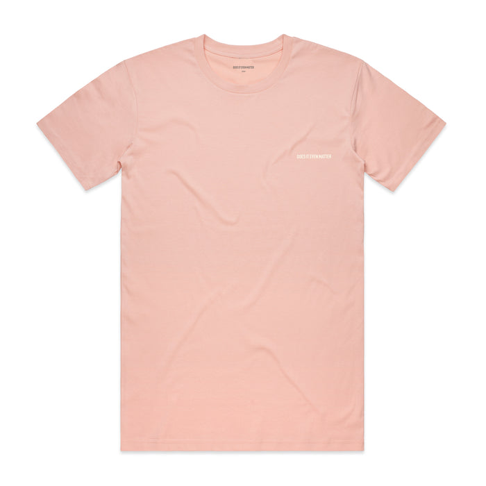 Does It Even Matter Logo Premium T-Shirt Pale Pink