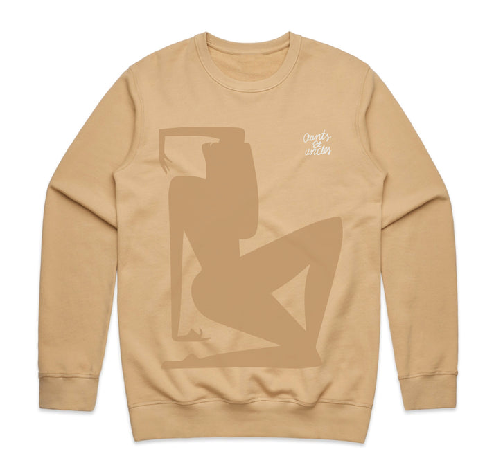 DIEM x Aunts et Uncles Her Crewneck - Tan