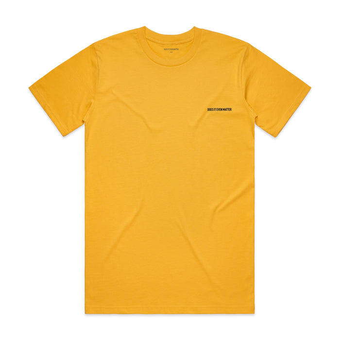 Does It Even Matter Logo Premium T-Shirt Yellow