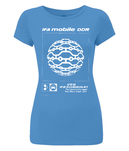 "Women's Slim-Fit Jersey T-Shirt ""IFA mobile"""