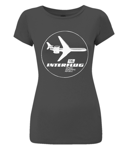 "Women's Slim-Fit Jersey T-Shirt ""Interflug"""