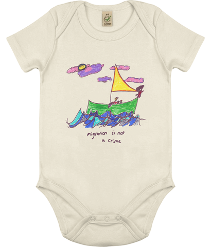 "Babygro ""Migration Is Not A Crime"""