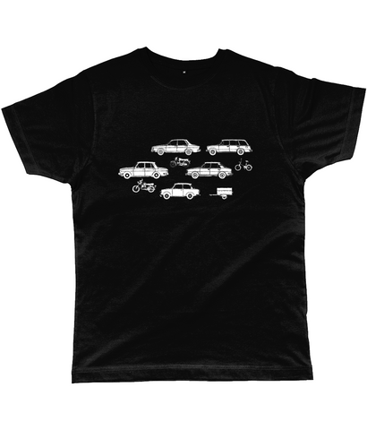 "Classic Cut Jersey Men's T-Shirt ""Cars and Bikes"""