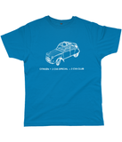 "Classic Cut Jersey Men's T-Shirt ""2CV"""