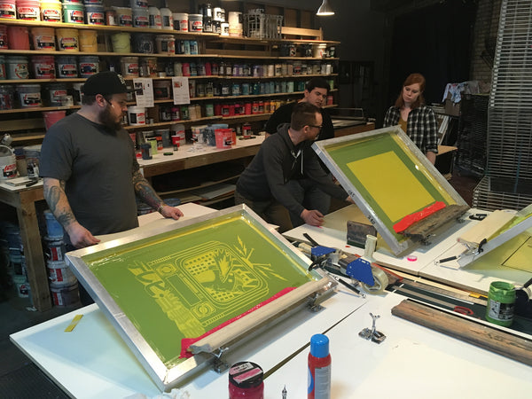 The Double, Design & Screenprinting Workshop