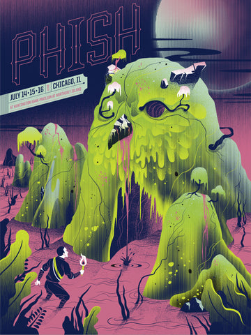 Phish, Official Chicago Poster, July 14, 15, 16, 2017