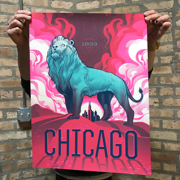 Chicago Bronze Lion