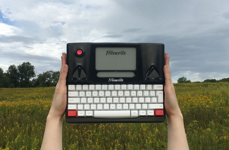 Freewrite in meadow nature outside