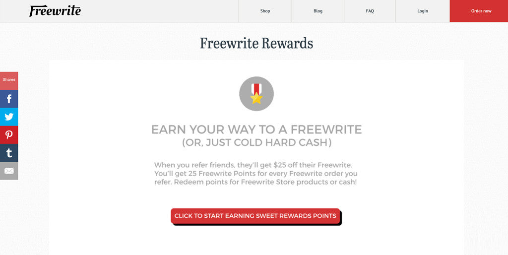 Getting Started with Freewrite Rewards - Postbox Account Creation