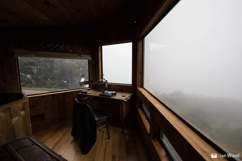pacific northwest foggy view writing solo