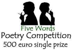 Five words poetry competition logo