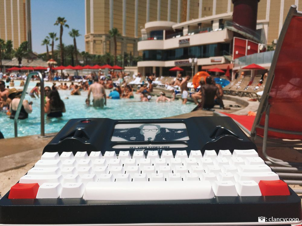 Writing poolside at las vegas resort