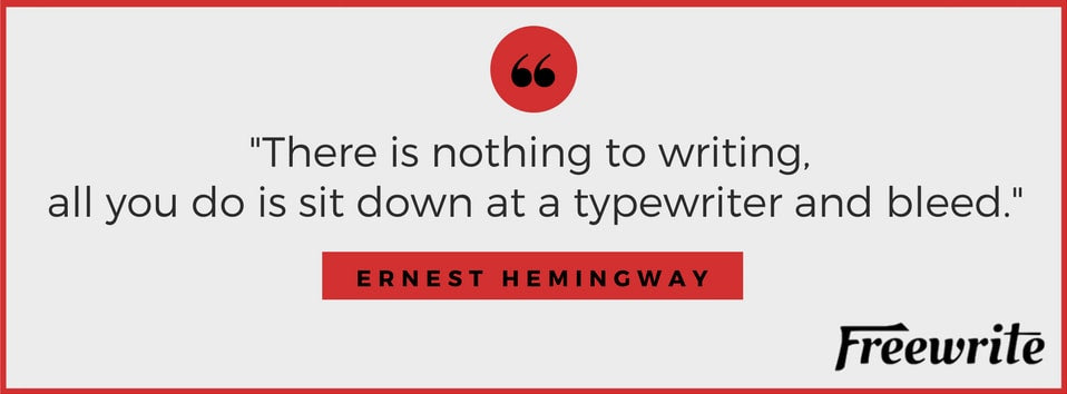 Ernest Hemingway Writing Tips