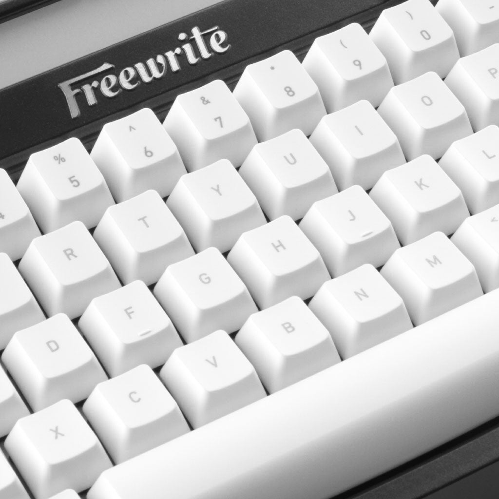mechanical keycaps on Freewrite keyboard