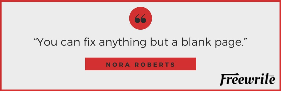 Nora Roberts' Writing Tip